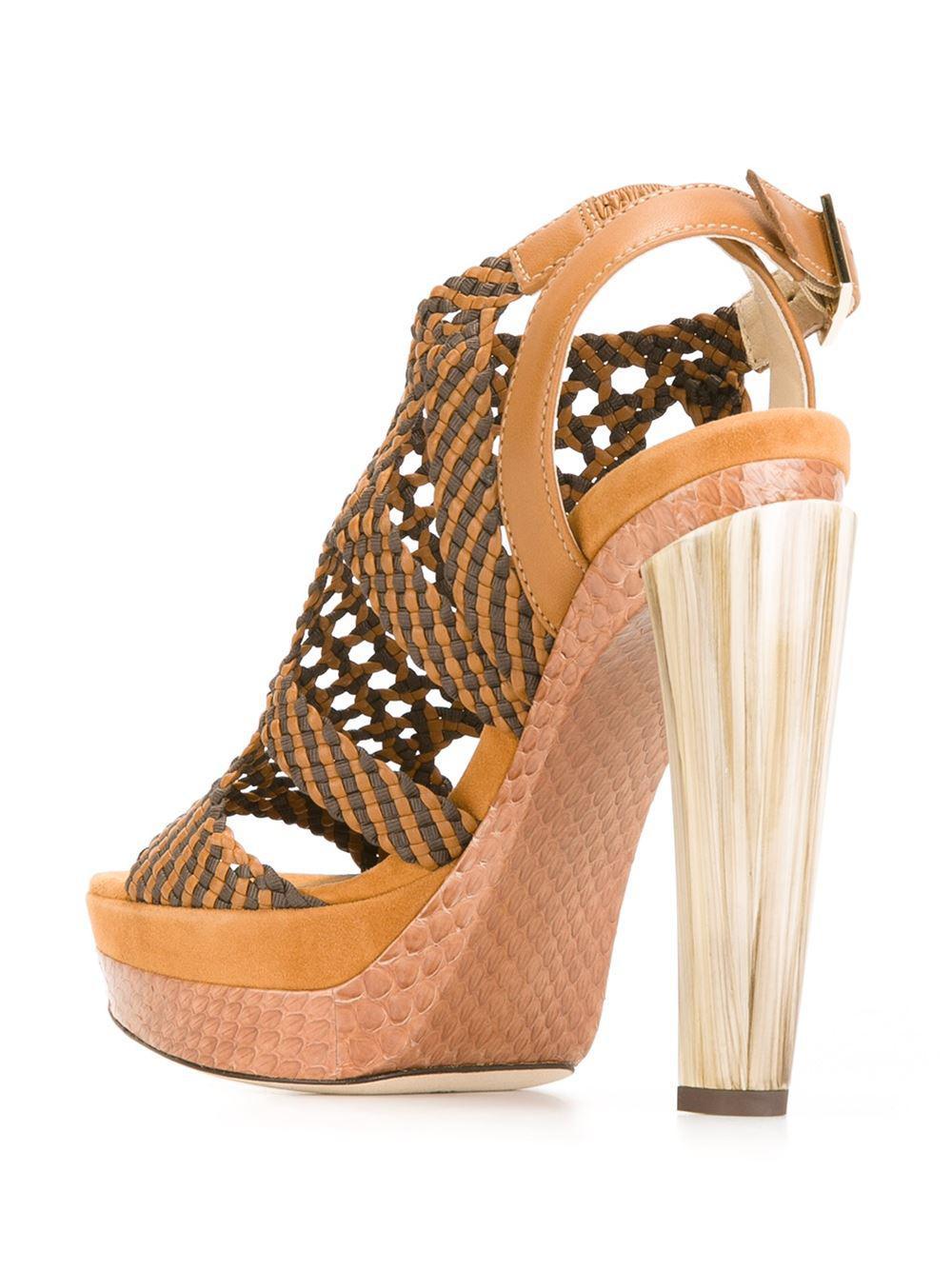 3feb7c8c2e08 Jimmy Choo  taytum 130  Sandals in Red - Lyst