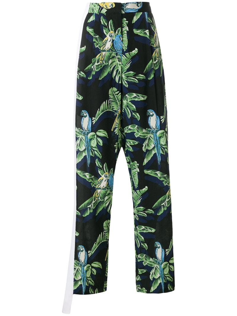 Footlocker Cheap Price Stella McCartney Halle Paradise print trousers Visa Payment kH4lqUFL
