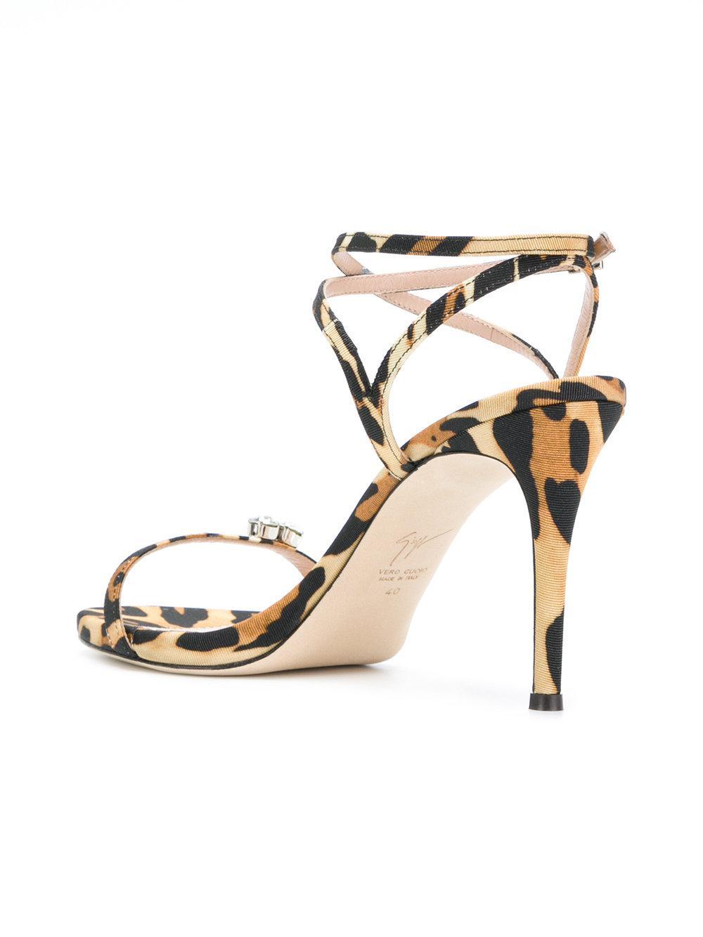 rhinestone detail strappy mid heel sandal - Black Giuseppe Zanotti 4iC87