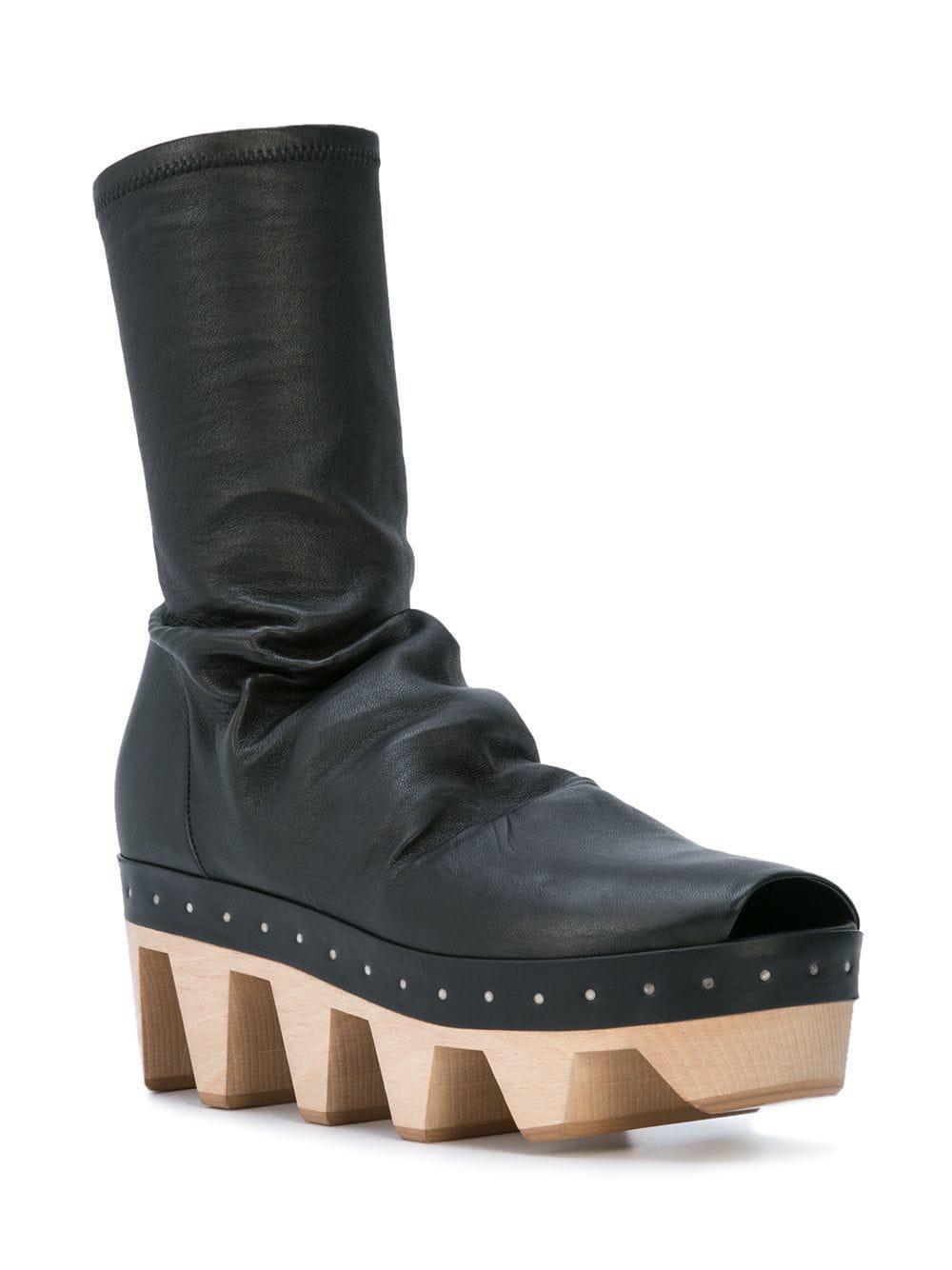 2cc9eea805e6 Lyst - Rick Owens Geta Sock Shoes in Black