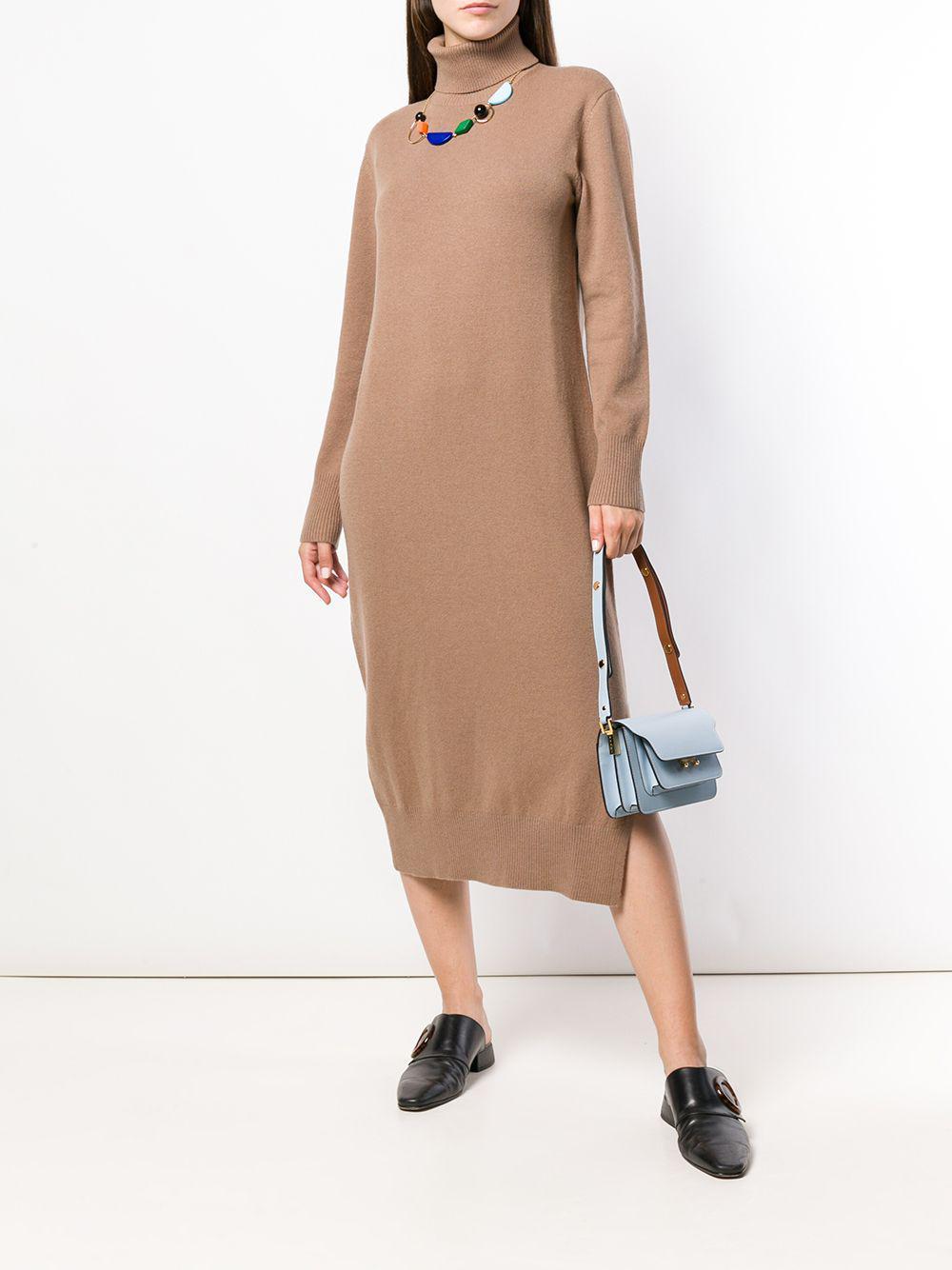 Joseph Brown Roll Neck Sweater Dress Lyst View Fullscreen