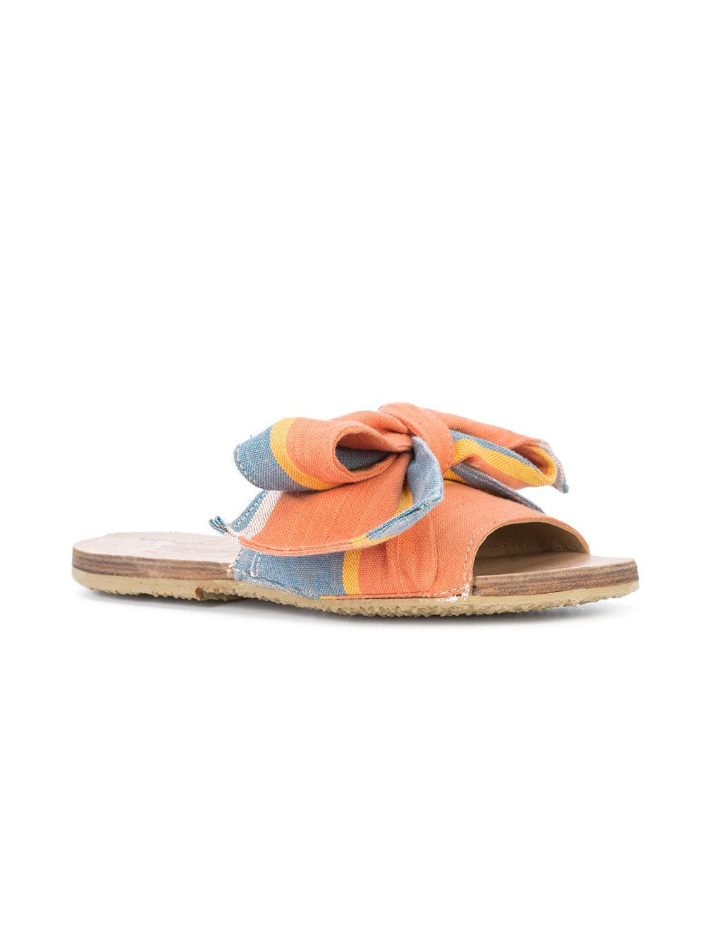 Buy Cheap Official bow open-toe sandals - Yellow & Orange Brother Vellies Best Price Discount Manchester Great Sale Real Online pTchla