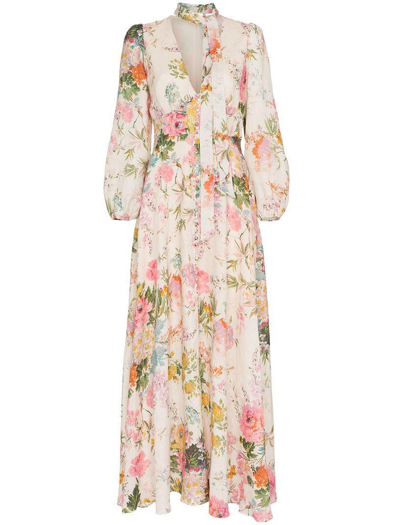 10e843bbb195b Zimmermann Heather Garden Floral Print Maxi Dress - Save 50% - Lyst