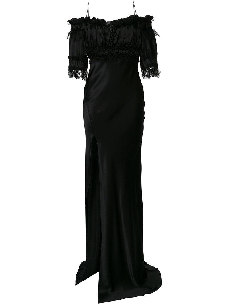 Buy Online Cheap Price Redemption off-the-shoulder evening gown Cheap Fast Delivery v5s6NFVa1T