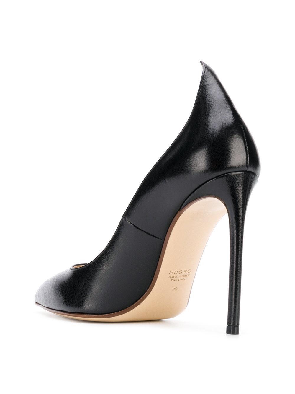 516c6ecc5f1b Francesco Russo - Black Pointed Heel Pumps - Lyst. View fullscreen