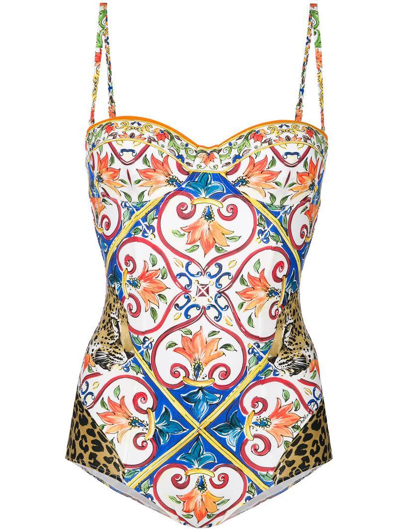09be04be0f Dolce   Gabbana. Women s Tile Print Swimsuit