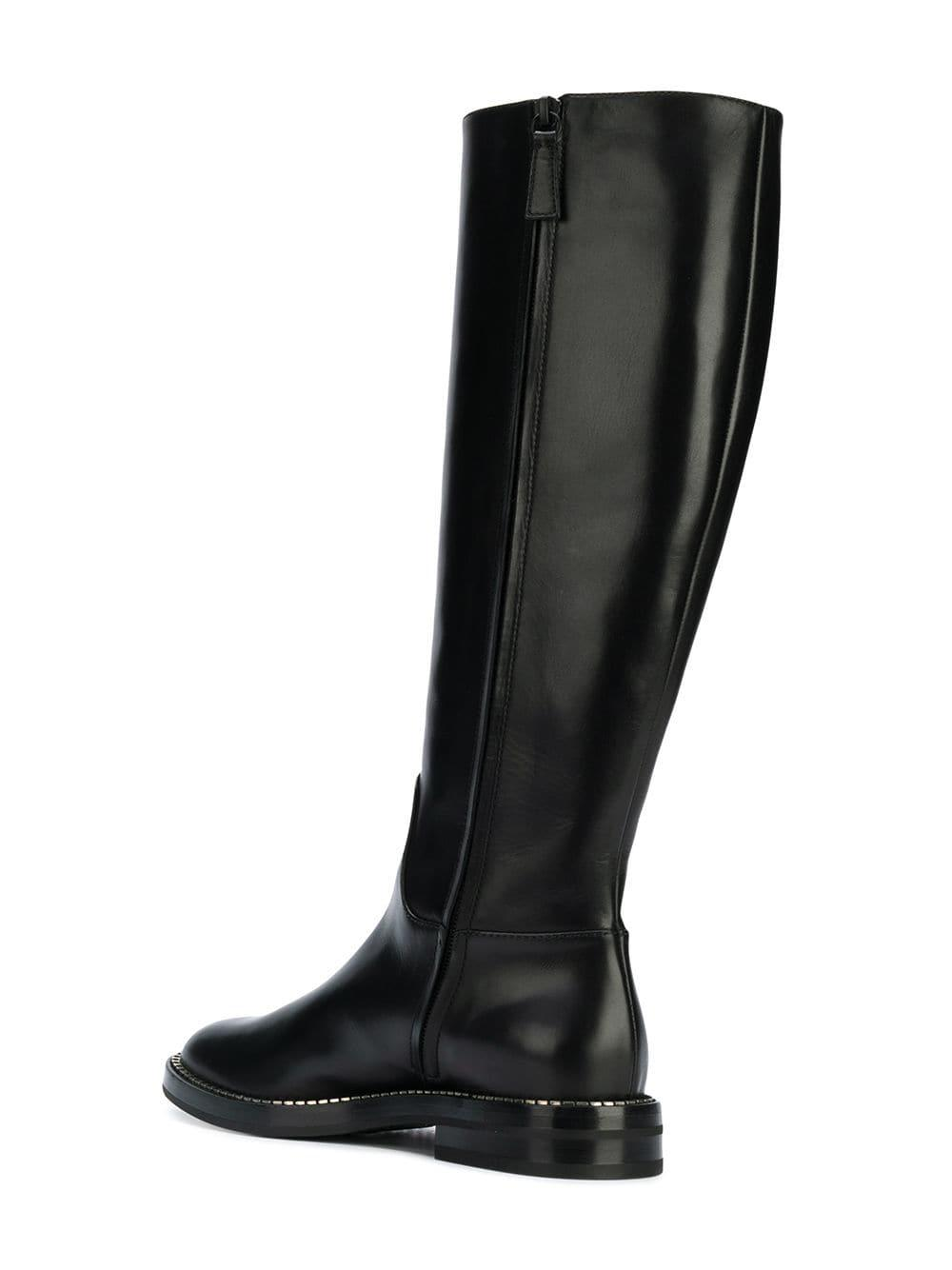 0139d2d1631 Lyst - Casadei Below-the-knee Zipped Boots in Black