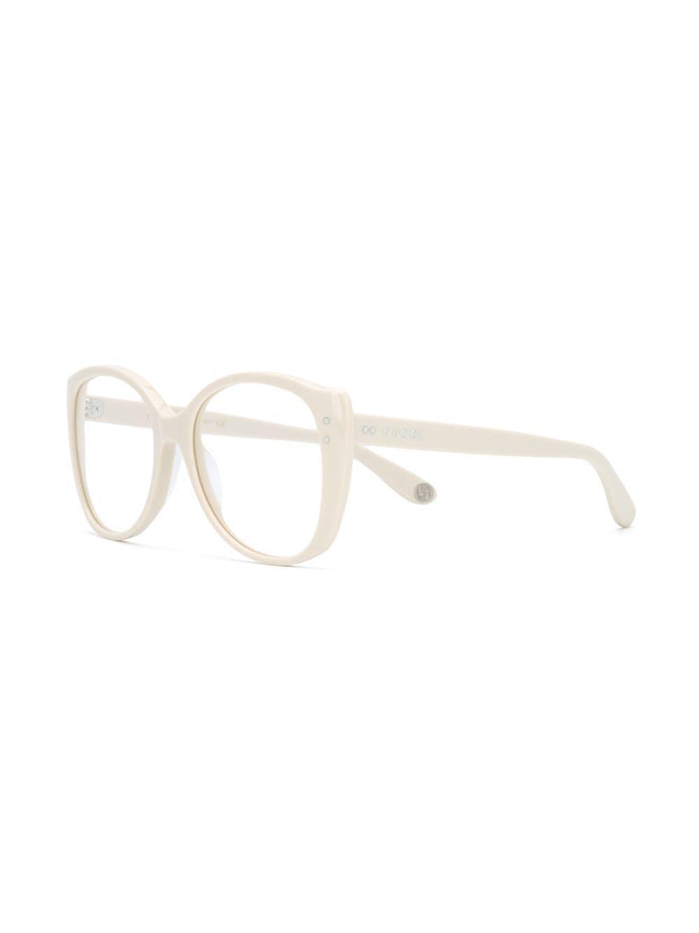 92759cc3466 Gucci Oversized Cat-eye Frame Glasses in White - Lyst