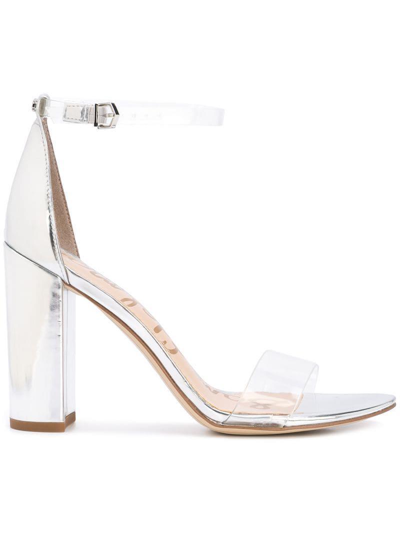 a5815744b90 Sam Edelman Yaro Block-heel Sandals in Metallic - Lyst
