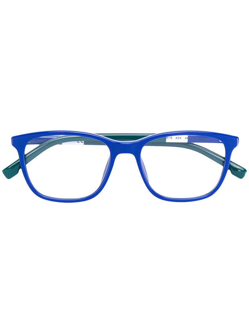 dc183e3b0b6 Lacoste Square Shaped Glasses in Blue - Lyst