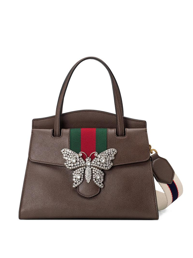 Gucci Totem Medium Top Handle Bag in Brown - Save 30% - Lyst d84a8d10f8734