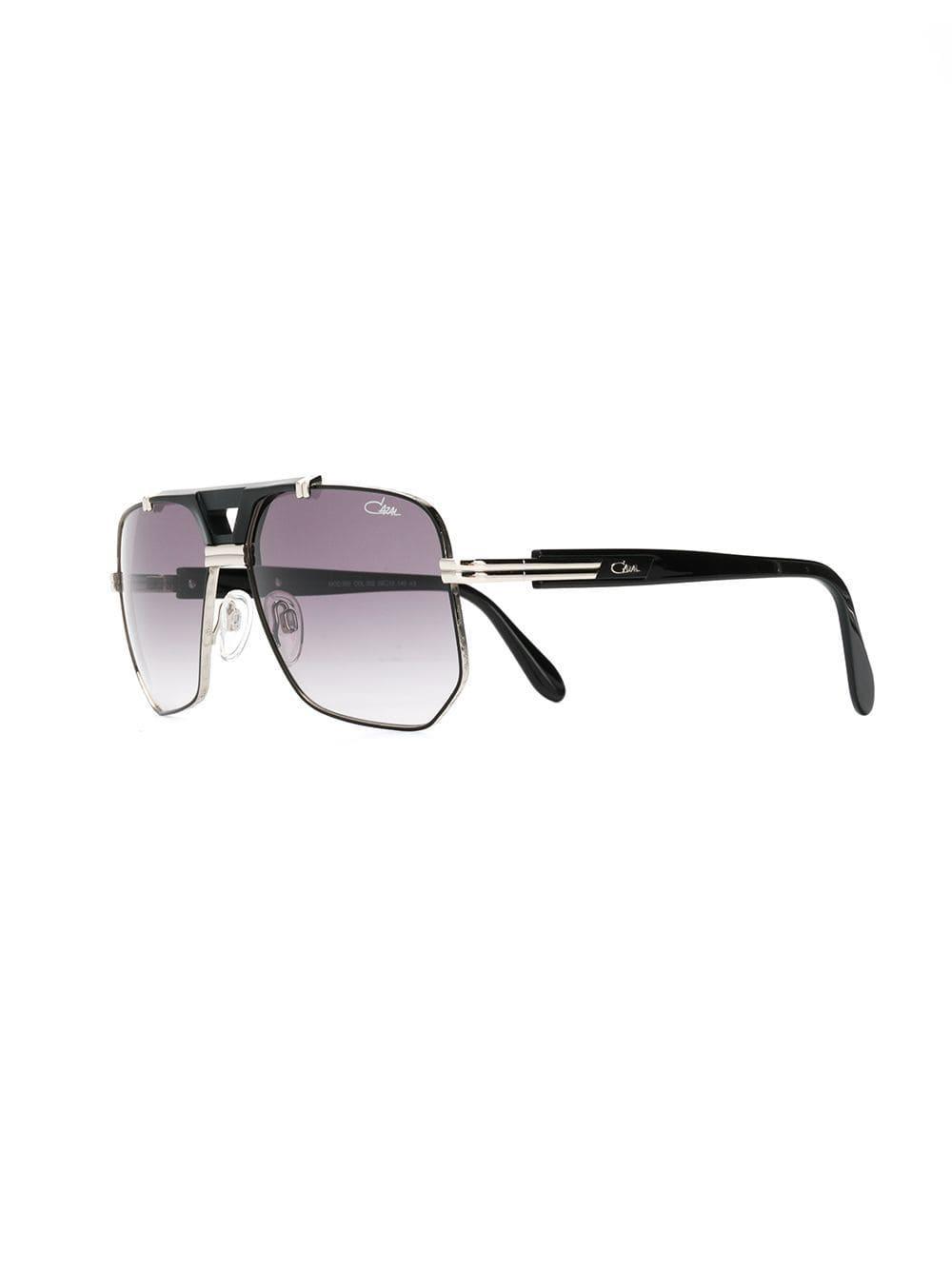 63ef2b701f2 Lyst - Cazal Aviator Tinted Sunglasses in Metallic for Men