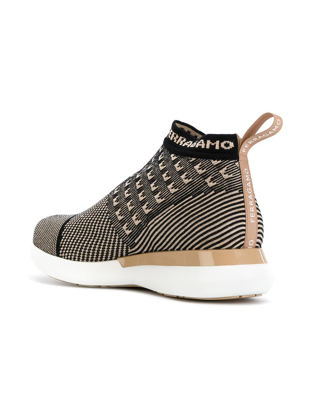 Chaussures De Sport De Chaussette Caprera Ferragamo ojEeS3