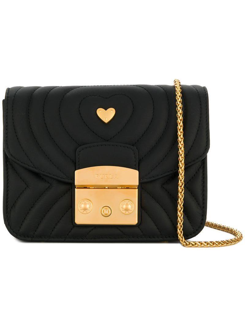 9b388d9d74be Lyst - Furla Quilted Metropolis Bag in Black