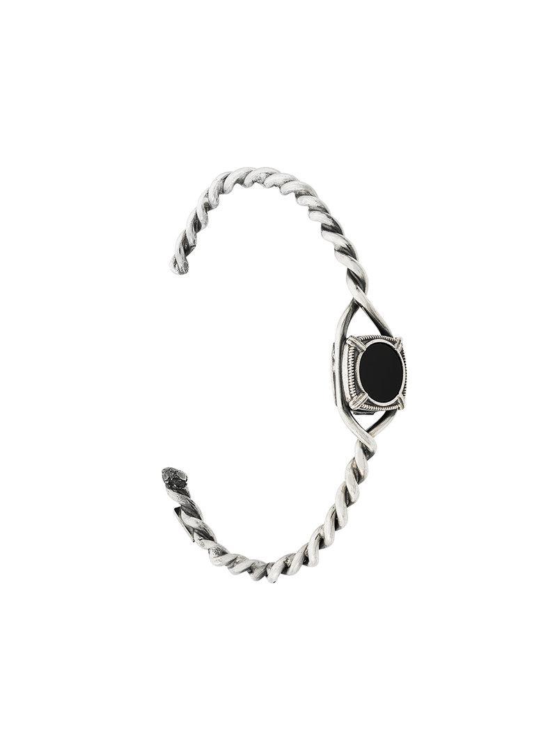 Emanuele Bicocchi round shape embellished bracelet - Black PMpq2HVVY