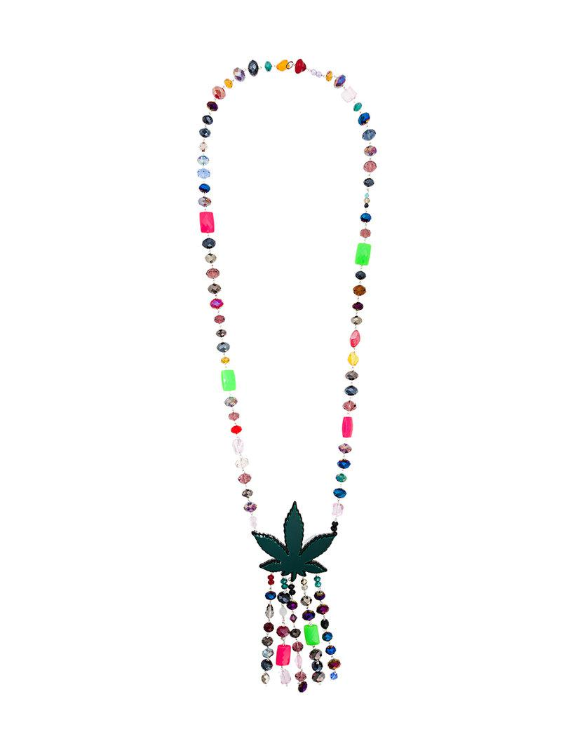 beaded charm necklace - Multicolour Ports 1961 5xQ9JDuD
