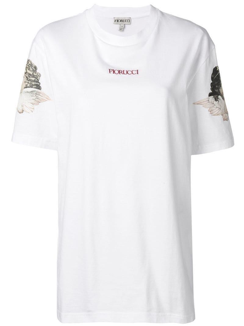 b00e19fdc07 Fiorucci - White Logo Print T-shirt - Lyst. View fullscreen