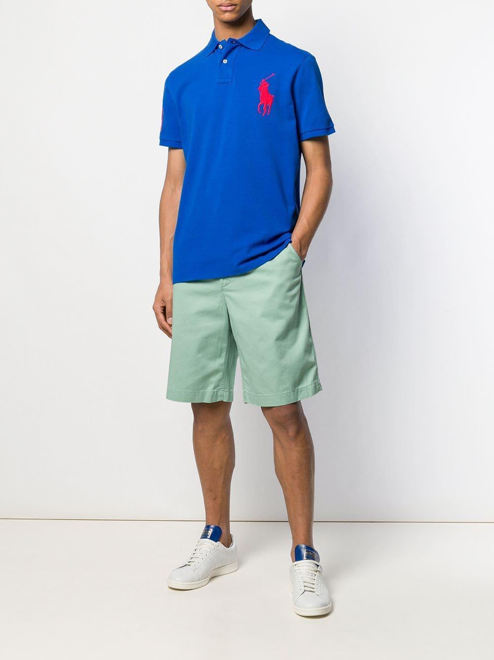 f767c9ed Polo Ralph Lauren Oversized Logo Polo Shirt in Blue for Men - Lyst