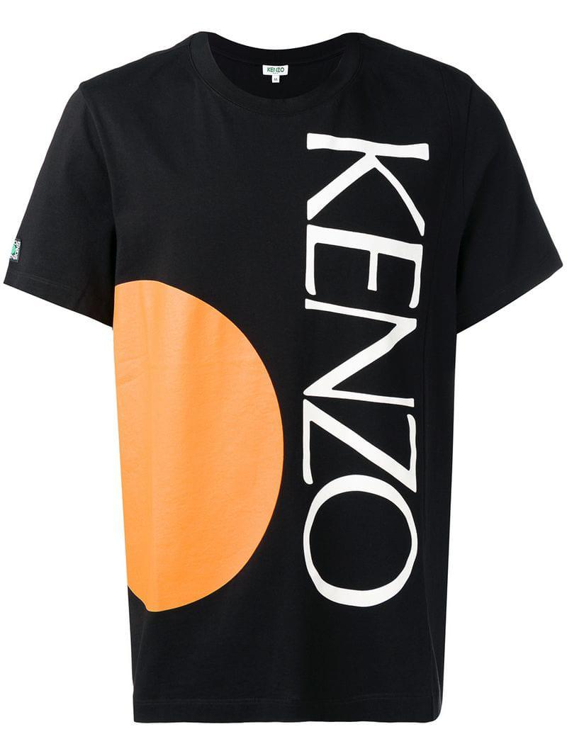 b4a350c1 KENZO - Black Logo Print T-shirt for Men - Lyst. View fullscreen