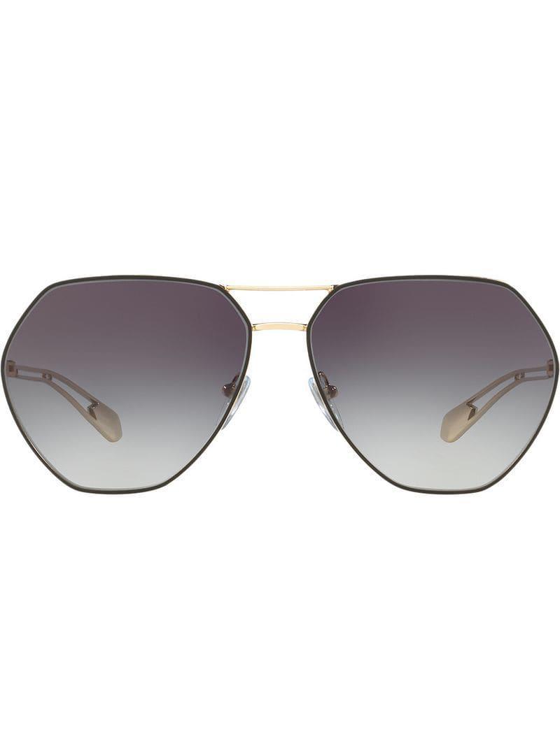 Frame Bvlgari Hexagonal Lyst In Sunglasses Metallic Uf8wO