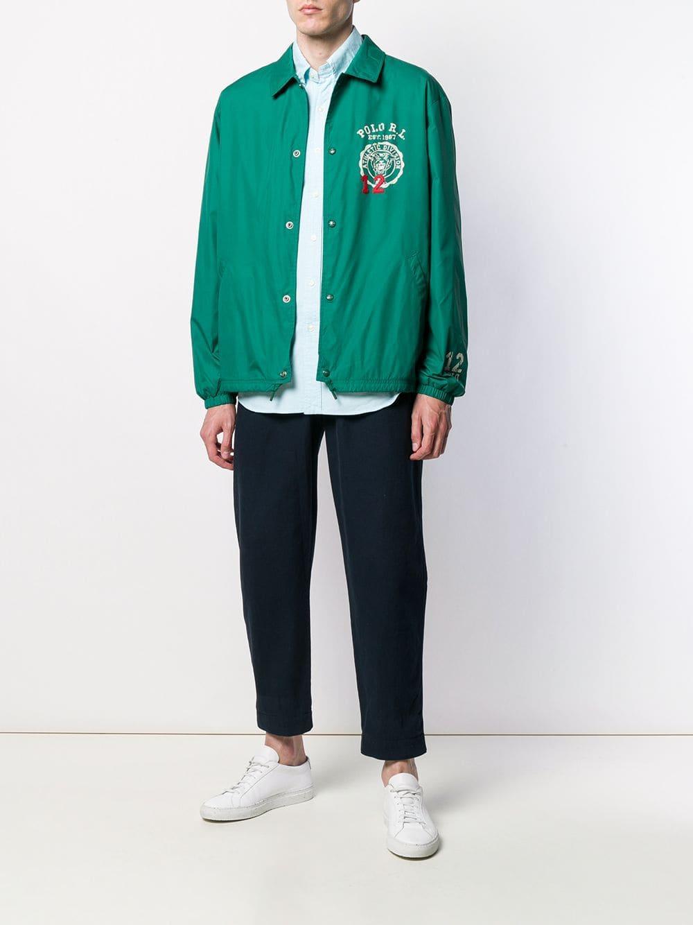 cd7652a3c Polo Ralph Lauren Logo Lightweight Jacket in Green for Men - Lyst