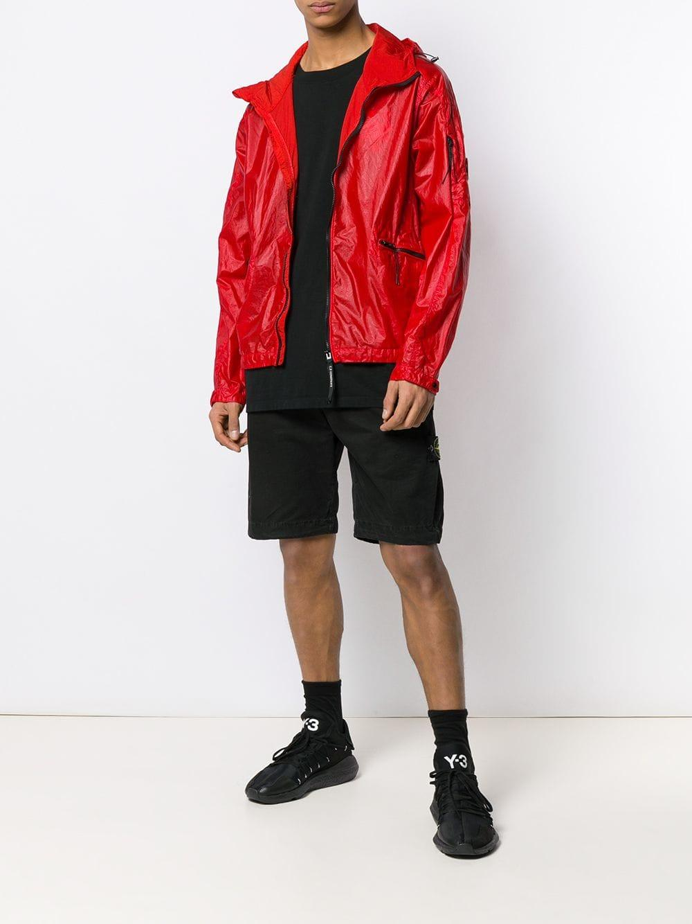 5bb9b2bd0 Lyst - C P Company Zipped-up Bomber Jacket in Red for Men