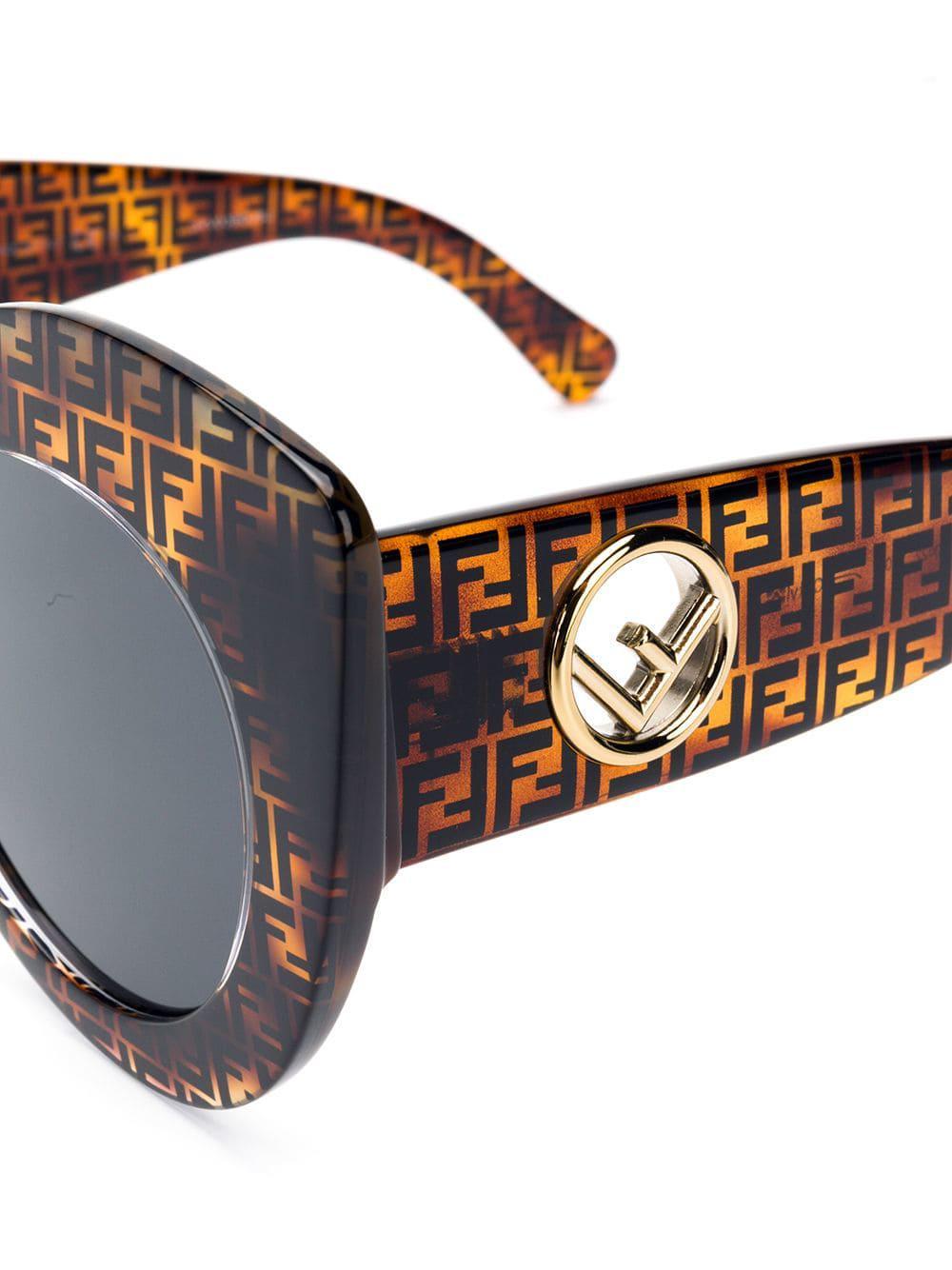 399e3e9212a9 Fendi - Brown F Is Fendi Sunglasses - Lyst. View fullscreen