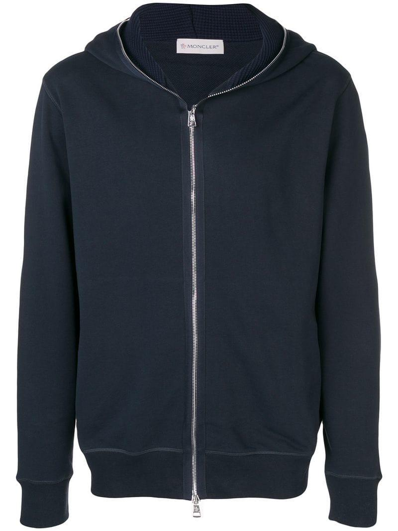 f1c23e432 Lyst - Moncler Zipped Hoodie in Blue for Men