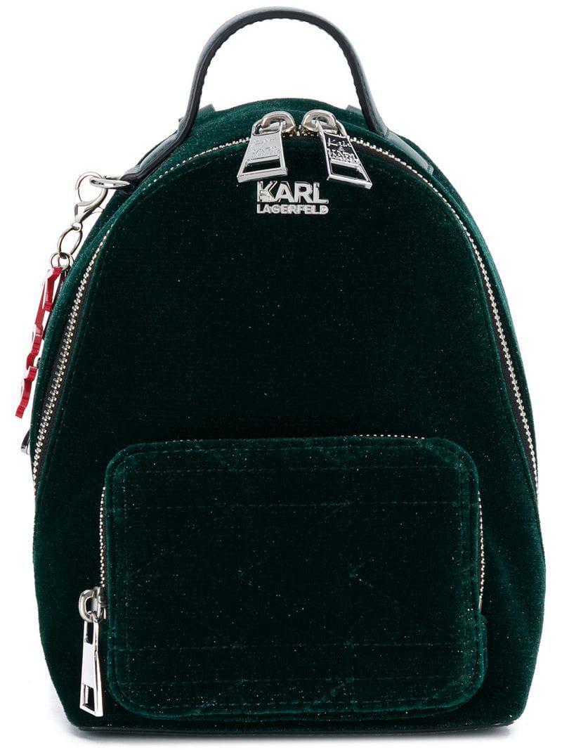 Karl Lagerfeld - Green Mochila mini de Karl x Kaia - Lyst. Ver en pantalla  completa 7fb29386f69