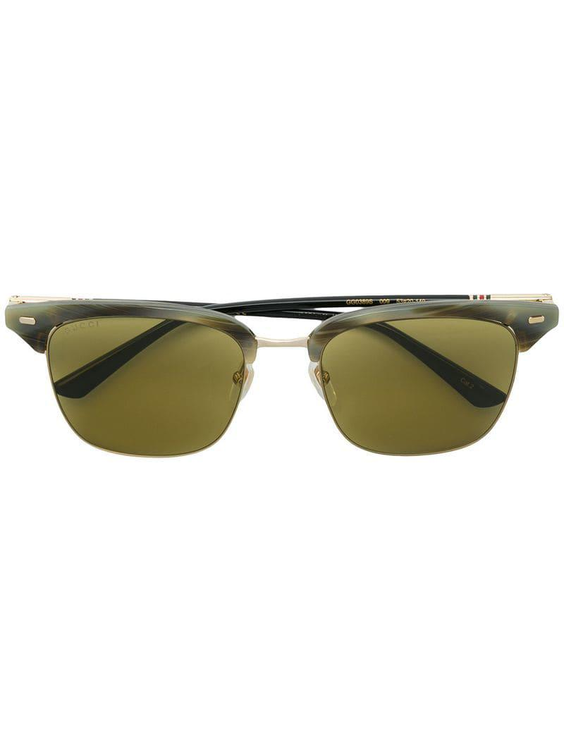 b546bf5b9d2 Gucci Clubmaster Style Sunglasses in Gray for Men - Lyst