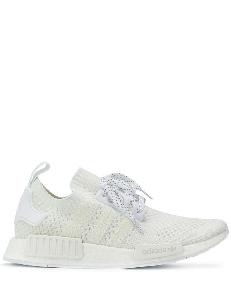 81afcc83cf736 Adidas - White Nmd R1 Sneakers for Men - Lyst. View fullscreen