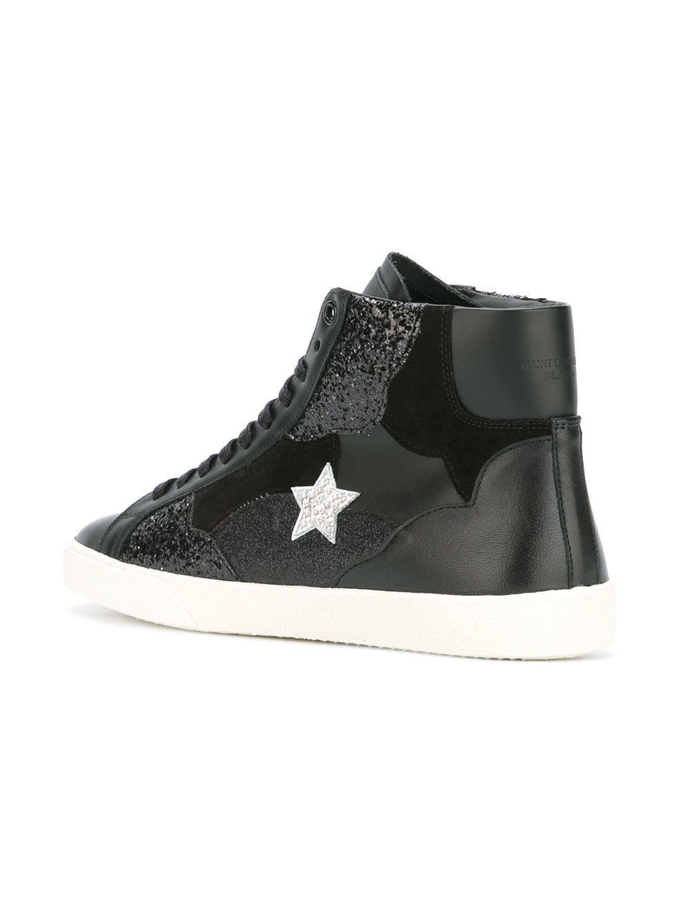 b25dfb9f1d970 Saint Laurent - Black Signature Court Classic Sl 06 Love Mid-top Sneakers -