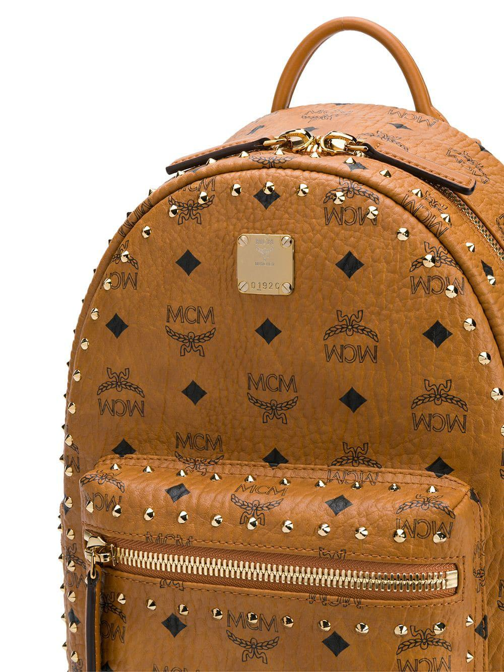 1fd2a1034fa Lyst - Mcm Small Stark Backpack in Brown for Men