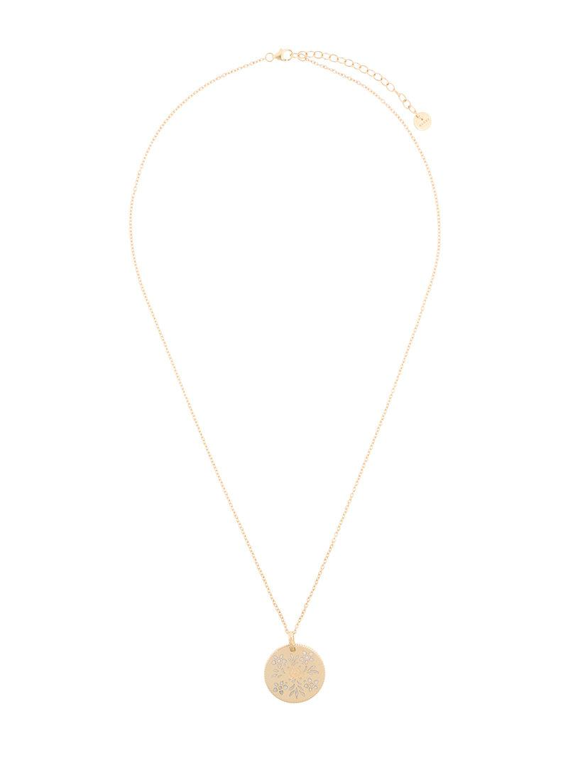 2bf8453011 Lyst - Gucci Icon Necklace in Metallic