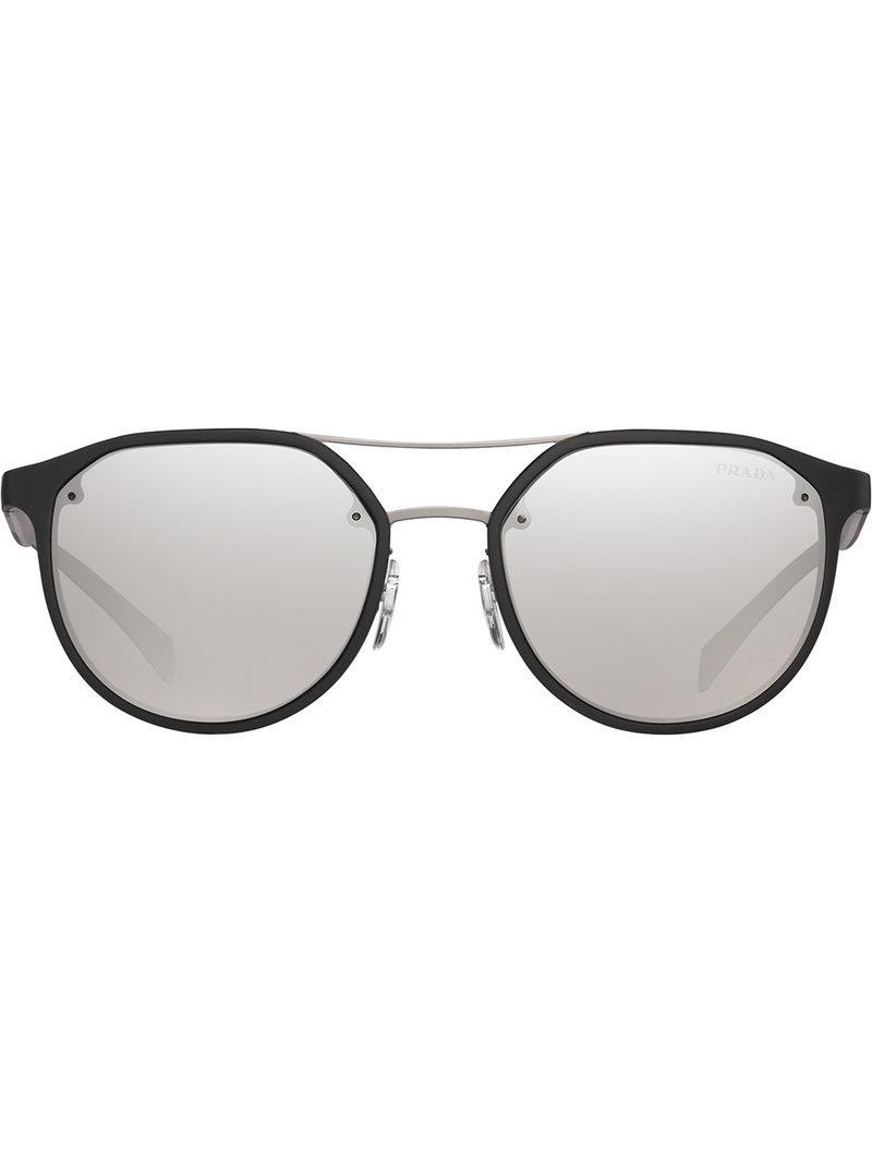 c8557aa938b4 ... best prada. mens black round frame sunglasses d662b a122a