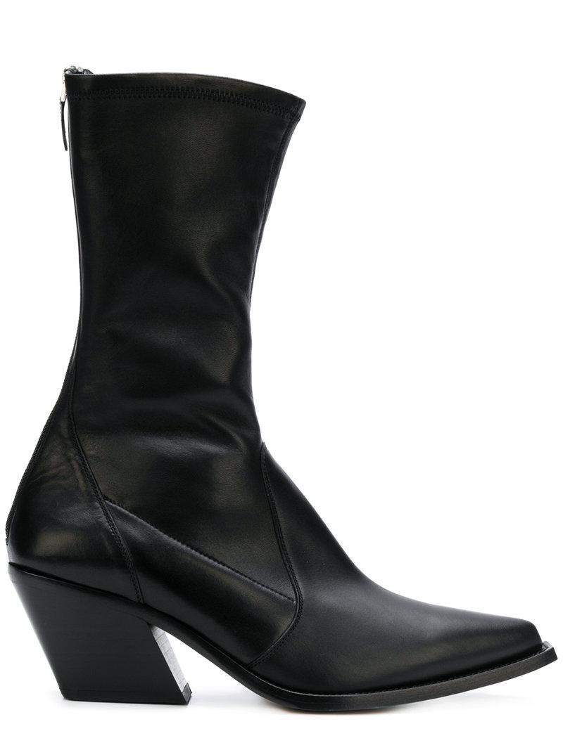 Lyst Western Bottes Coloris Givenchy Noir D'inspiration En rZrRqnvwg