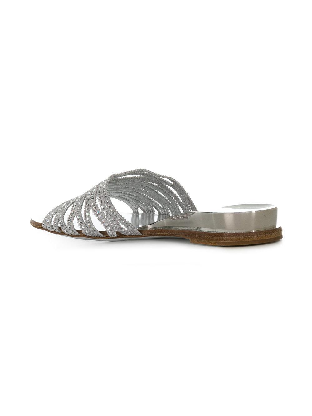 bead detail mules - Metallic Casadei MIkcB7