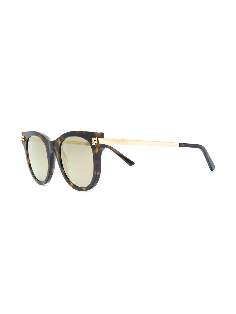 d7894367b8f9f Cartier Oversized Panther Sunglasses in Brown - Lyst