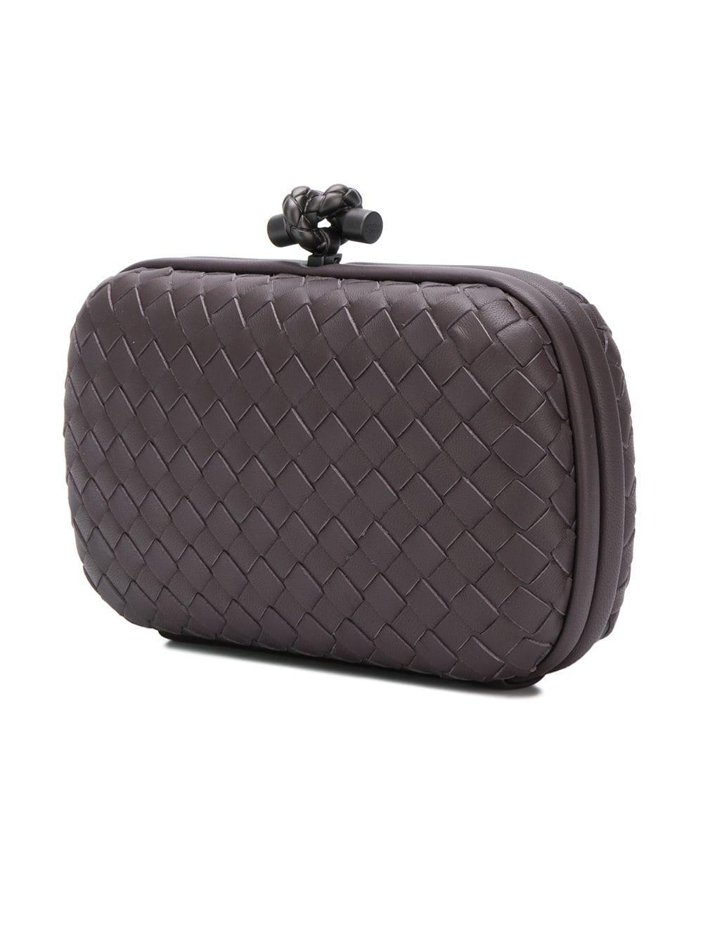 b66224df6e Bottega Veneta - Brown Intrecciato Clutch - Lyst. View fullscreen