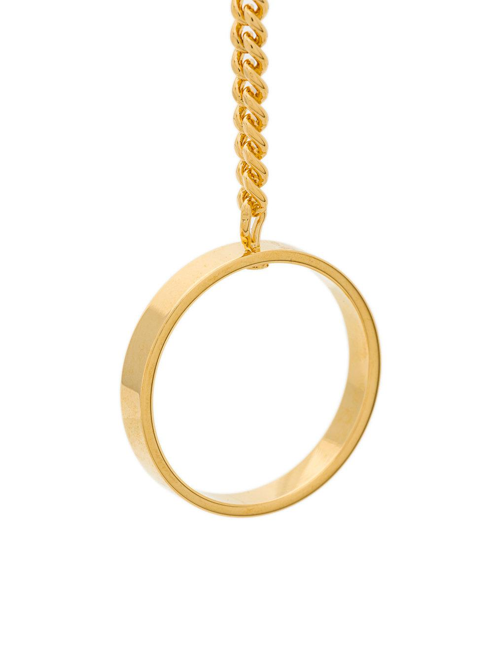 asymmetric ring chain necklace - Metallic Jil Sander nU0i17KaE