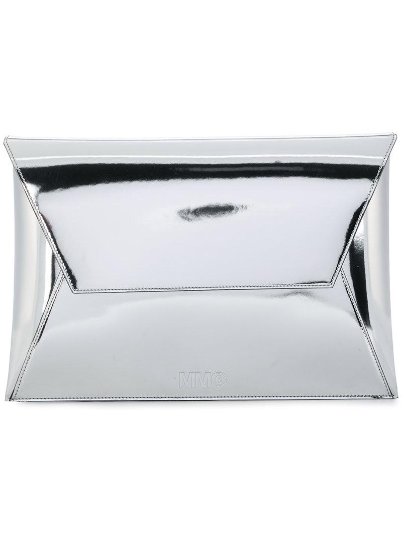 MM6 MAISON MARGIELA Metallic envelope clutch bag bqRB21o