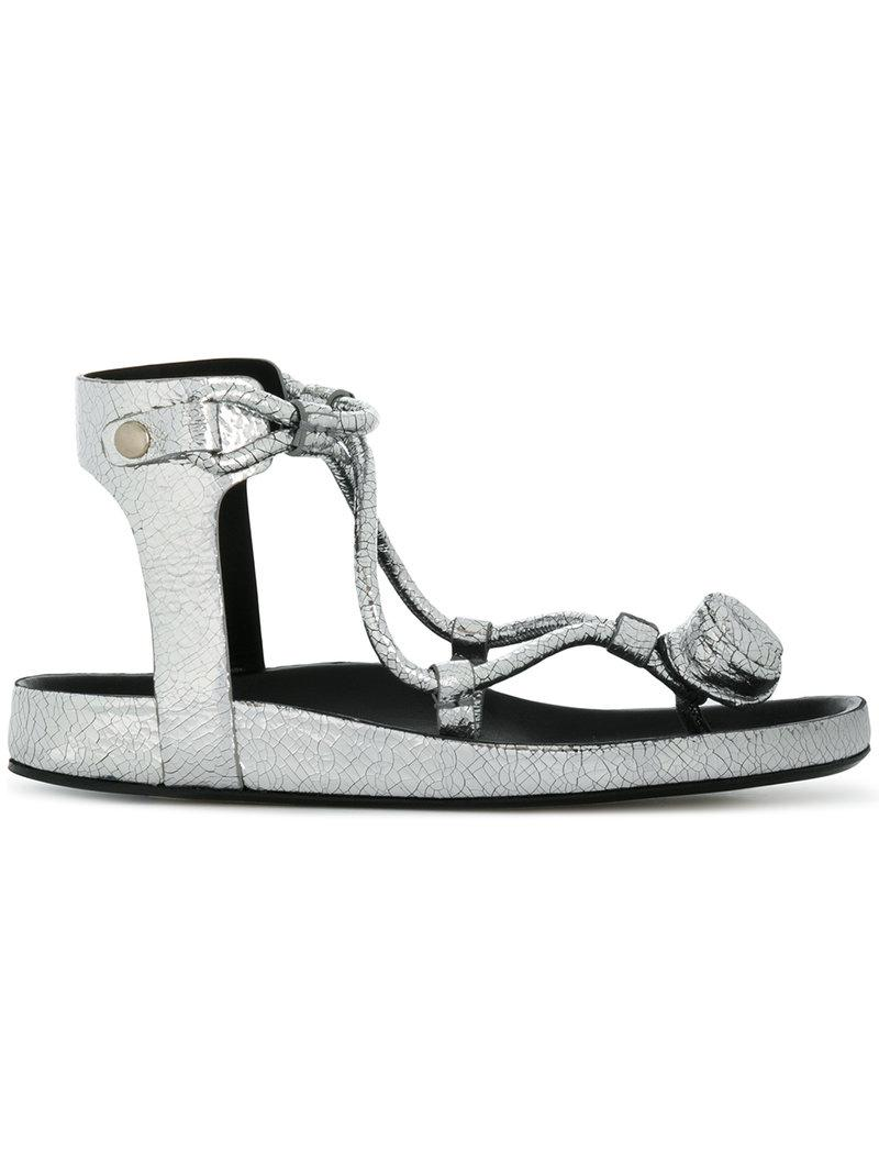 crackled effect sandals - Metallic Isabel Marant PPBQFSjhQ