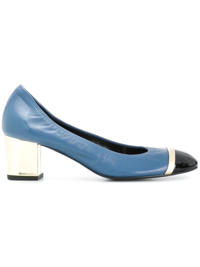 Lanvin Pompes À Bloc De Couleur - Bleu 9WtcLcl