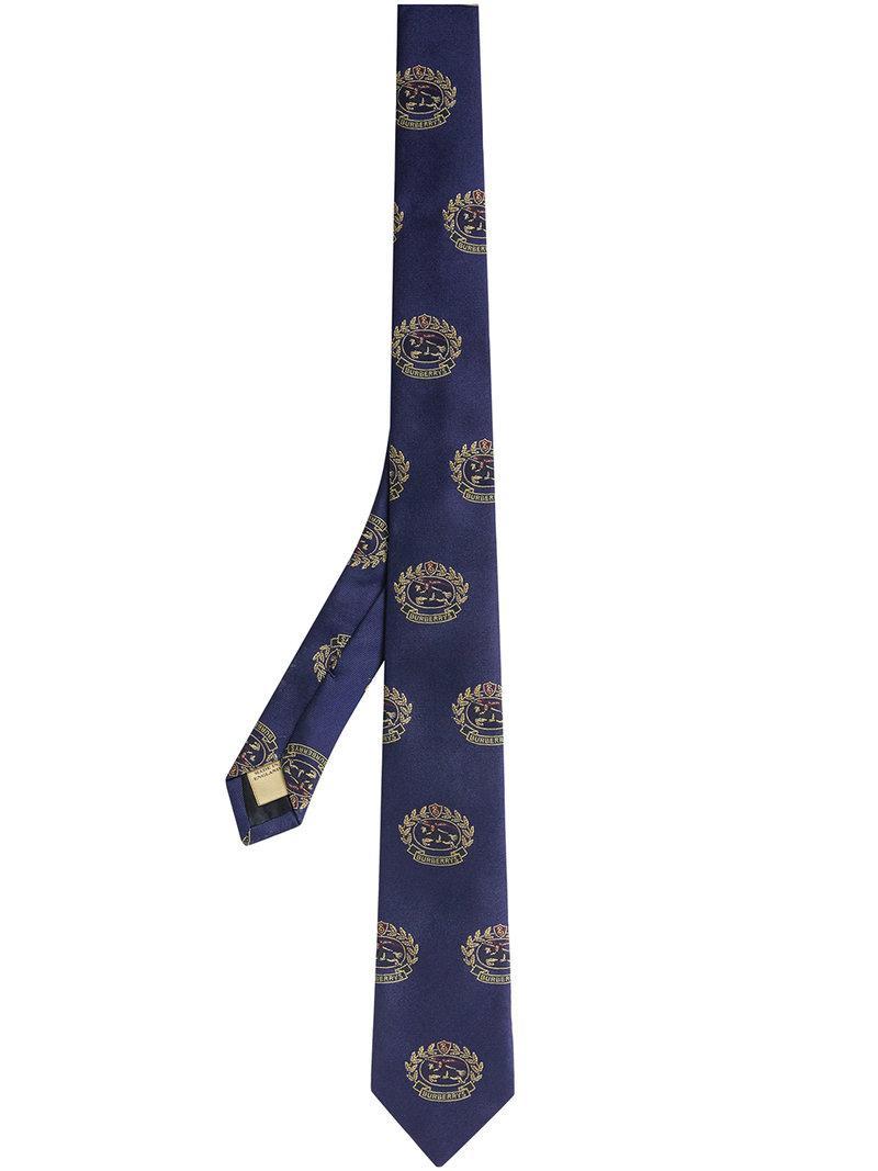 Slim Cut Archive Scarf Print Silk Tie - Black Burberry 9li1stZlh
