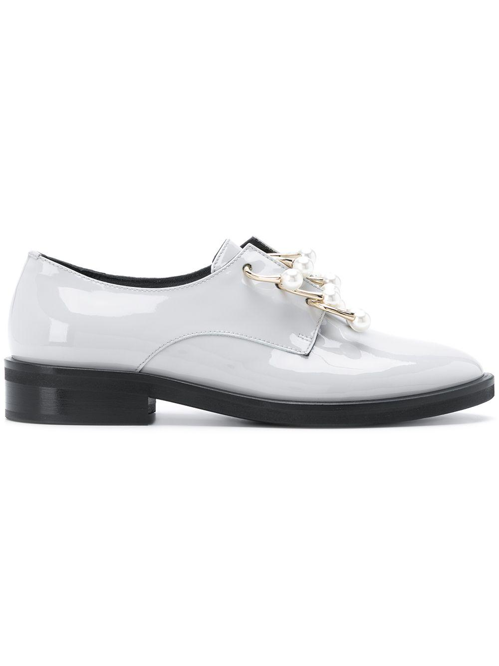 39842e3f3d Coliac - Gray Anello Embellished Derby Shoes - Lyst. View fullscreen