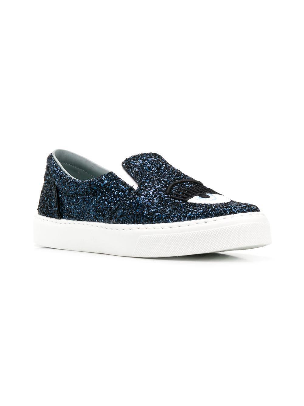 530705bf42a Lyst - Chiara Ferragni Flirting Slip-on Sneakers in Blue