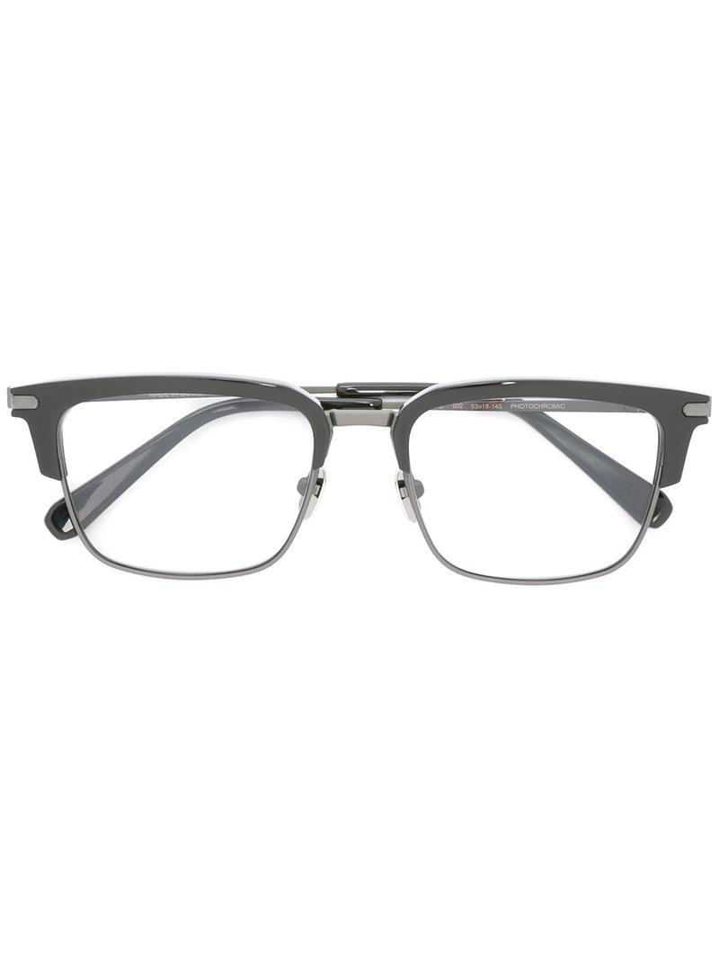 a2bb999e94 Brioni - Black Square Frame Sunglasses for Men - Lyst. View fullscreen