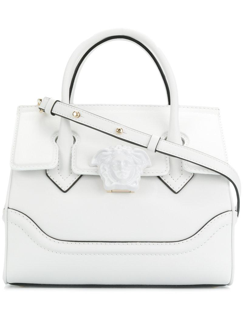 0ae931cde344 Lyst - Versace Palazzo Empire Tote Bag in White