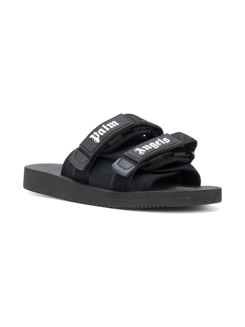77d91c314c4b Palm Angels X Suicoke Slides in Black for Men - Lyst