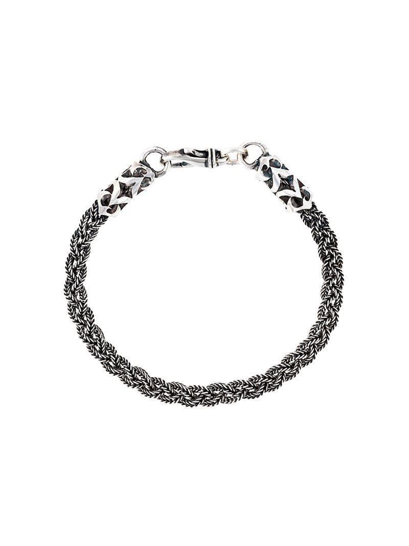 Emanuele Bicocchi round shape embellished bracelet - Black HxwJGk